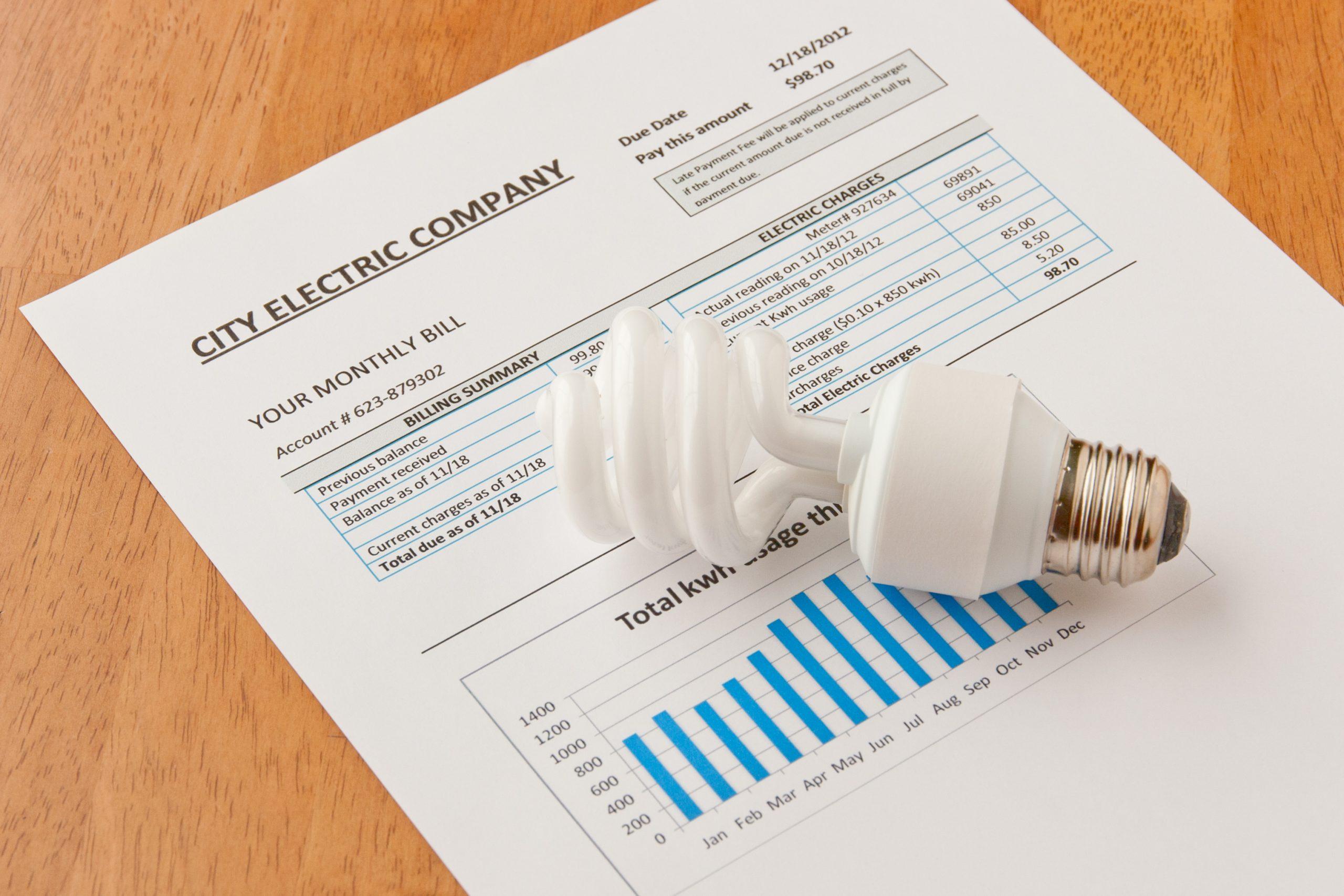 lightbulb on electric plans bill
