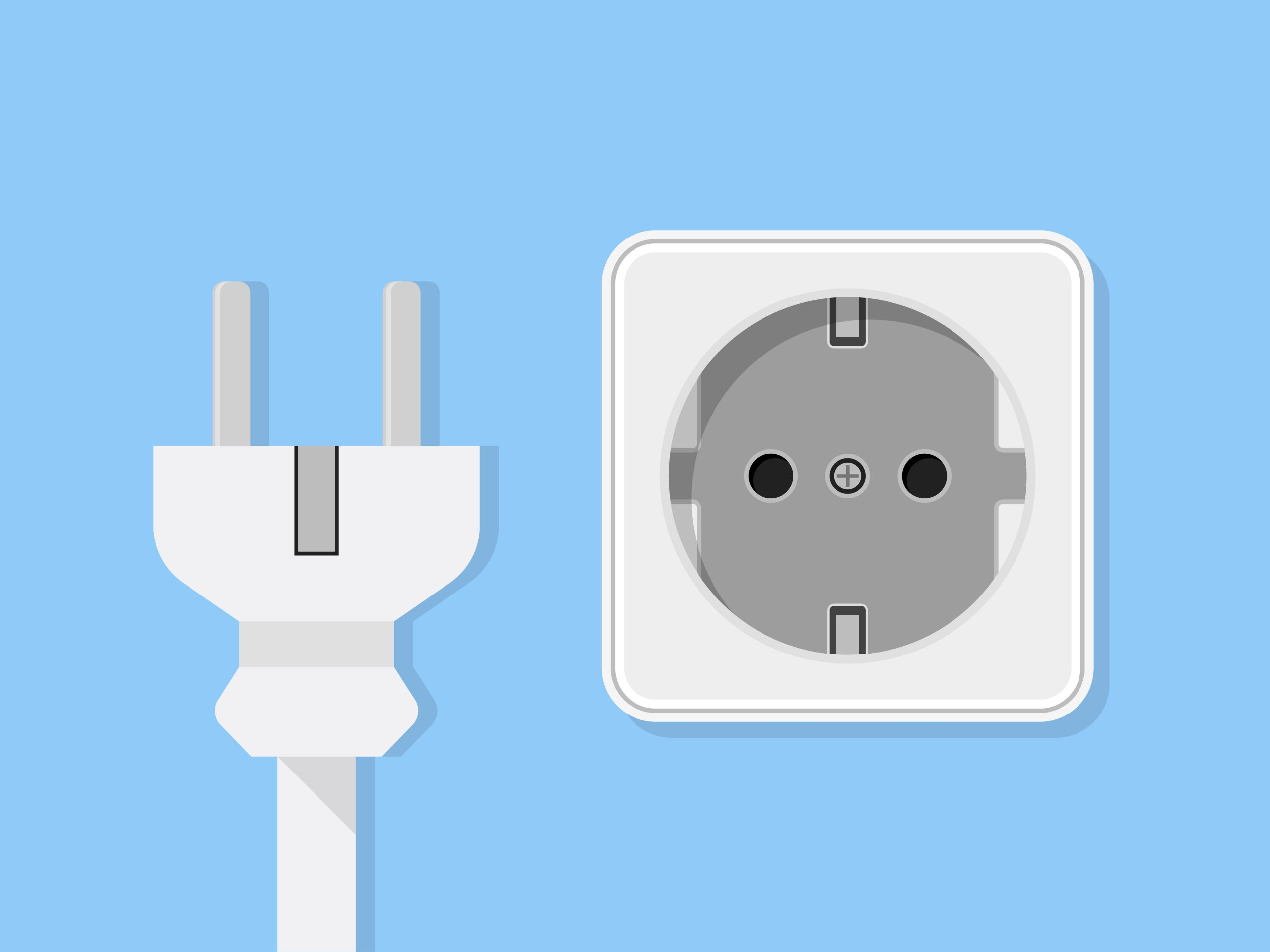 electrical plug to depict unplugging appliances to save energy