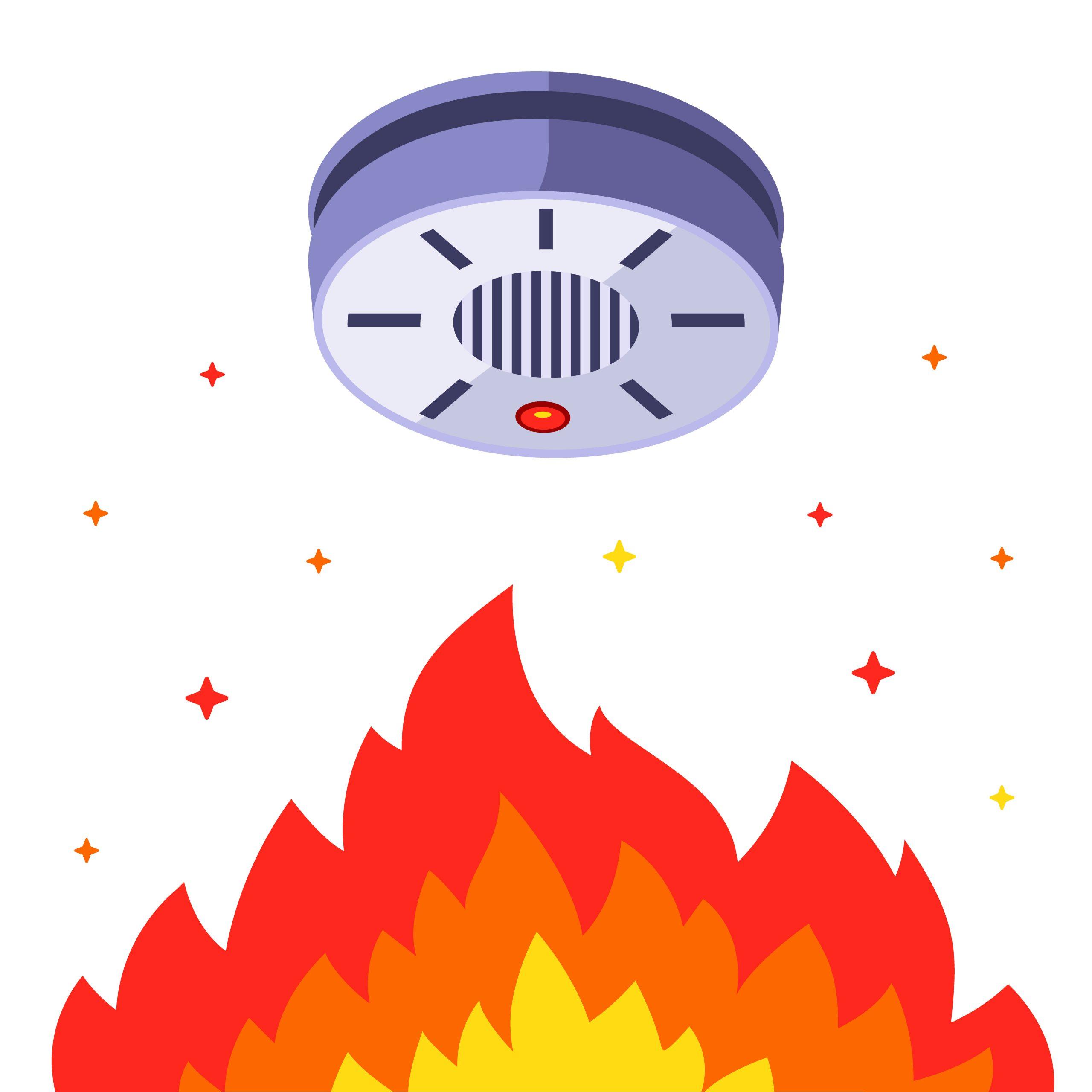 smoke alarm safety tips illustration